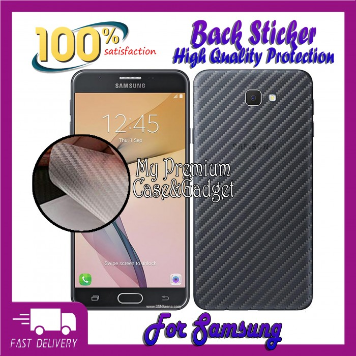 Carbon Fiber Sticker for Samsung J2/J5/J7 Prime | Mdex