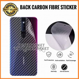 [PROMOTION] Oppo F5, F7, F9, F11, F11 Pro 3D Anti Fingerprint Back Carbon Fiber Sticker Film