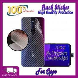 Oppo F5, F7, F9, F11, F11 Pro Back Carbon Fiber Sticker Protection
