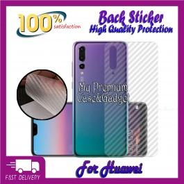 Huawei P9,P9 Lite,P9 Plus,P10,P10 Lite,P10 Plus,P20,P20 Pro,P30,P30 Pro,P40,P40 Pro Back Carbon Fiber Sticker Protection