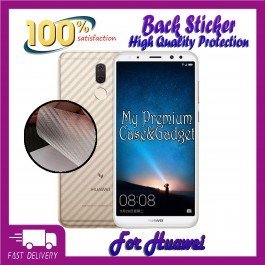 Huawei Nova Lite, Nova Plus, Nova 2i, Nova 2 Lite, Nova 3, Nova 3i, Nova 4, Nova 4e, Nova 5T Back Carbon Fiber Sticker Protection