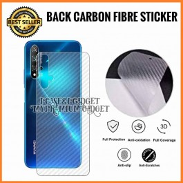 Huawei Honor 5A, 5C, 6A Pro, 7X, 8X, 9 Lite 3D Anti Fingerprint Back Carbon Fiber Sticker Film