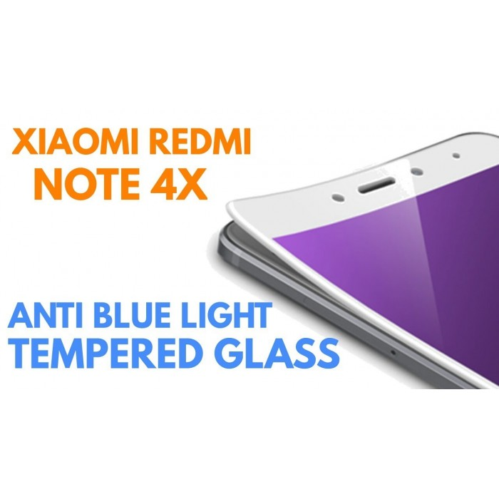 ... Redmi Note 4, 4X, 5A Anti Blue Ray Full Cover Tempered Glass ...