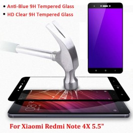 [FULL COVER] Redmi Note 4, 4X, 5A Anti Blue Ray Light Full Edge Protection Tempered Glass