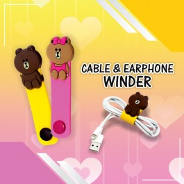 Cover Cable Winder Protection Creative Cartoon Design For USB Cable & Earphones