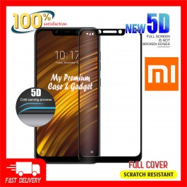Xiaomi Pocophone F1 5D Full Cover 9H Hardness Tempered Glass