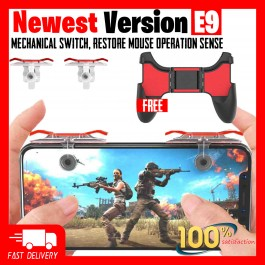 [BUY 1 FREE 1] PUBG Mobile Gamepad Controller E9 Latest Version Joystick Gaming Trigger