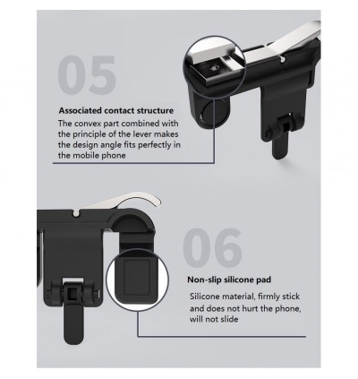 [BUY 1 FREE 1] PUBG Controller Metal V3.0 Joystick Shooting Mobile Gaming Trigger L1 R1 Pan