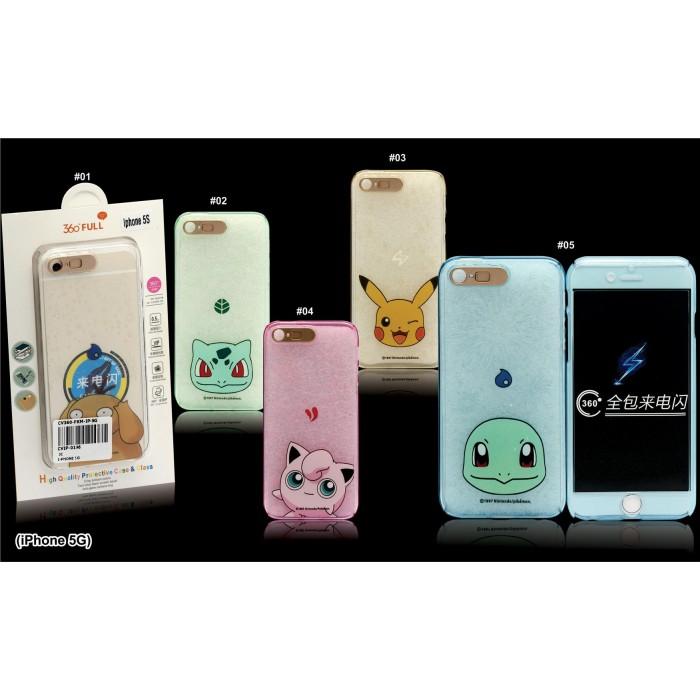 9b65d5f4605 iPhone 5/5S/SE, 6/6S, 6 Plus/6S Plus Pokemon 360 Full Protection Silicone  Case