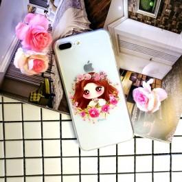 iPhone 5/5S/SE, 6/6S, 6 Plus/6S Plus, 7/8, 7 Plus/8 Plus Transparent Cartoon Fashion Case