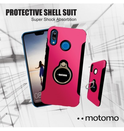Huawei Y5 Prime, Y6 (2018), Y9 (2019) Motomo Hybrid Case Extreme Protection with iRing