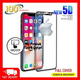 iPhone X, XR, XS, XS Max 9H Hardness 5D Full Cover Tempered Glass