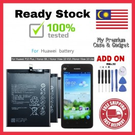 [100% FULL CAPACITY] Battery Huawei Honor 3C, 3C Lite, 4A, 4C, 4X, 5C, 6, 6A Pro, 6X, 6 Plus, 6X, 7, 7A, 7X, 8, 8 Pro, 8X, 9, 10, 10 Lite, Play, View 10, V9 High Quality Replacement Spareparts