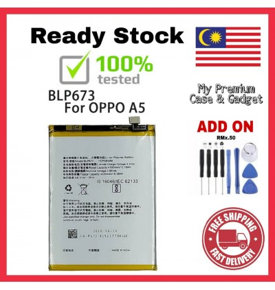 [100% FULL CAPACITY] Battery Oppo A1K, A15/A15S, A31, A33/Neo 7/A35/F1, A3S/A5S/A5, A37/Neo 9, A53, A57, A59/F1S, A71, A77/F5, A83, A9 2020/A5 2020/A11X High Quality Replacement Spareparts Add-On Tools
