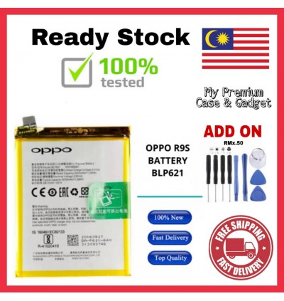 [100% FULL CAPACITY] Battery Oppo R8207/R1X, R829/R1, R830/R831/R2001/R2010/R2007/Yoyo, R9/F1 Plus, R9S High Quality Replacement Spareparts Add-On Tools