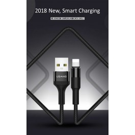 USAMS SJ220 U5 Braided Charging and Data Cable For iOS iPhone
