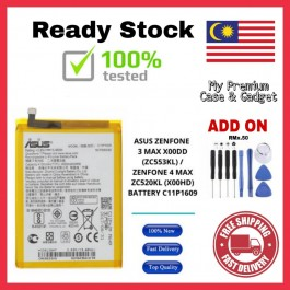 [100% FULL CAPACITY] Battery Asus Zenfone Max/ZC550KL, Max Pro M1/M2/ZB601KL/ZB631KL, 3 Max 5.2/ZC520TL/Max Plus M1/ZB570TL, 3 Max 5.5/ZC553KL/4 Max 5.2/ZC520KL, 4 Max Pro/ZC55KL High Quality Replacement Spareparts