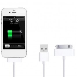 iOS Apple Charger Adapter For iPhone 3G, 3GS, 4G, 4S With USB Cable