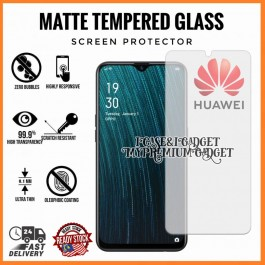 [AG MATTE] Huawei Y9 2019 Anti Fingerprint Full Glue Gaming Tempered Glass