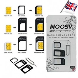 4 In 1 Simcard Adapter Noosy Nano Micro Sim Card iPhone Android