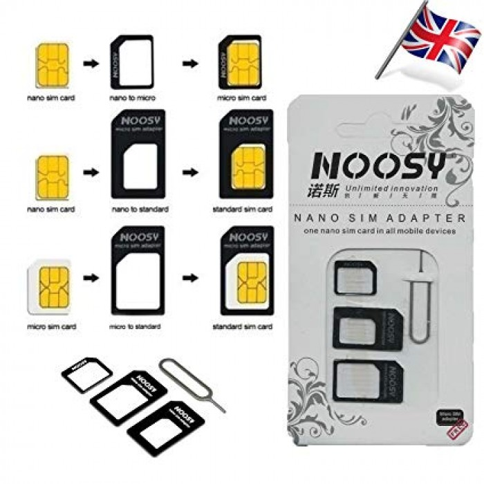 4 In 1 Simcard Adapter Noosy Nano Micro Sim Card | Mdex Online Store