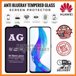 [FULL COVER] Huawei P20, P20 Pro, P30, P40 5G 5D/9D AG Matte Anti Blue Ray Full Glue Gaming Tempered Glass