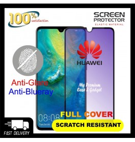 Huawei Mate 20 5D Full Cover Matte Anti Blue Ray Tempered Glass