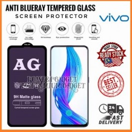 [FULL COVER] Vivo V9, V11, V11i, V15, V15 Pro, V17, V17 Pro, V19, V20, V20 SE 5D/9D AG Matte Anti Blue Ray Full Glue Gaming Tempered Glass