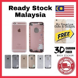 iPhone 3G, 3GS, 4, 4S, 5, 5S, 6, 6 Plus, 6S Back Battery Cover Housing Replacement FREE Back Carbon Fiber Sticker
