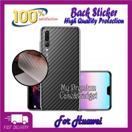 Huawei Y5, Y9 2019 Back Carbon Fiber Sticker Protection