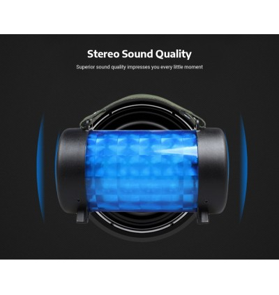 Portable Speaker M21 Bluetooth Wireless Music MP3, Memory Card, USB Pendrive With Superior Sound Quality Bass