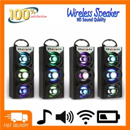 Portable Wireless Speaker MS-222BT Bluetooth FM Radio AUX TF Card With LED Backlight Clear Sound Super Bass