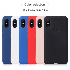 Redmi Note 7 Simple Style Matte Liquid TPU Silicone Ultra Thin Case