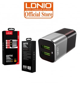 LDNIO A2206 2.4A 2 USB Output Auto ID Fast Charging USB Adaptive Travel Charger