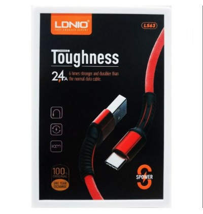 LDNIO LS63 Lightning iPhone Ultra Fast Charging & High Speed 2.4A Data Sync USB Cable